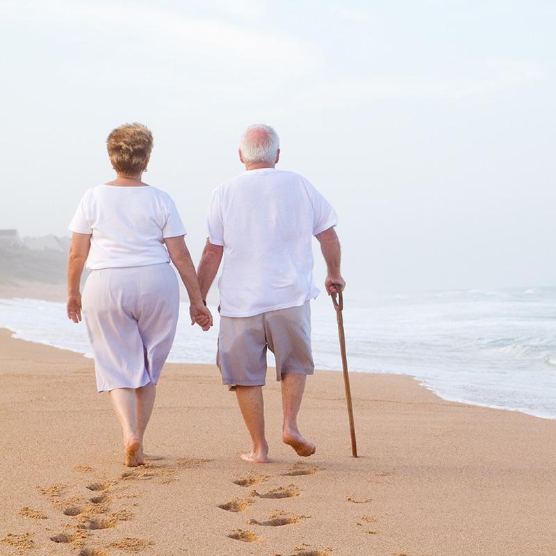 Couple on Cape Cod Beach